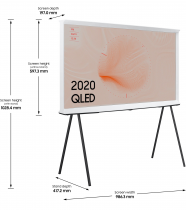 2020 43″ The Serif QLED 4K HDR Smart TV in Cloud White 43 (l-perspective White)