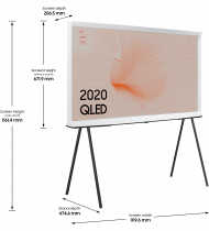"2020 49"" The Serif QLED 4K HDR Smart TV in Cloud White 49 (l-perspective White)"