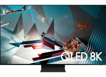 2020 75″ Q800T QLED 8K HDR Smart TV 75 (front Black)