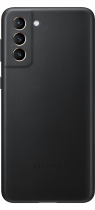 Galaxy S21+ 5G Leather Cover Black (front Black)