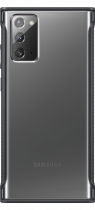 Galaxy Note20 Clear Protective Cover Black (front Black)