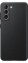 Galaxy S21 5G Leather Cover Black (front Black)
