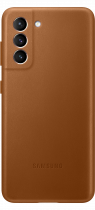 Galaxy S21 5G Leather Cover Brown (front Brown)