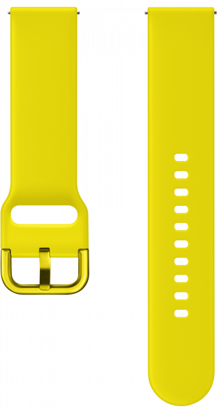 Galaxy Watch Active Silicone Straps yellow (front yellow)
