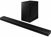 Samsung Q60T 5.1ch Cinematic Soundbar with Virtual DTS:X Object Sound Black (set-r-perspective Black)