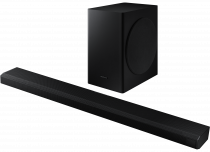 Samsung Q70T 3.1.2ch Cinematic Soundbar with Dolby Atmos and DTS:X Black (set-r-perspective Black)