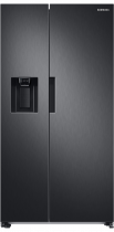 RS8000 7 Series American Style Fridge Freezer with SpaceMax™ Technology Black 609 L (front Black)