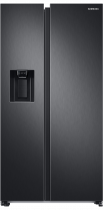 RS8000 8 Series American Style Fridge Freezer with SpaceMax™ Technology and Wine Shelf Black 609 L (front Black)
