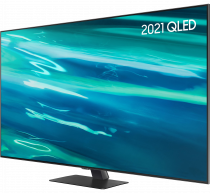 "55"" Q80A QLED 4K HDR Smart TV (2021) 55 (r-perspective1 Silver)"