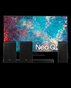 """65"""" QN85A Neo QLED 4K TV + SoundBar HW-Q800A + Altavoz  SWA-9500S"""